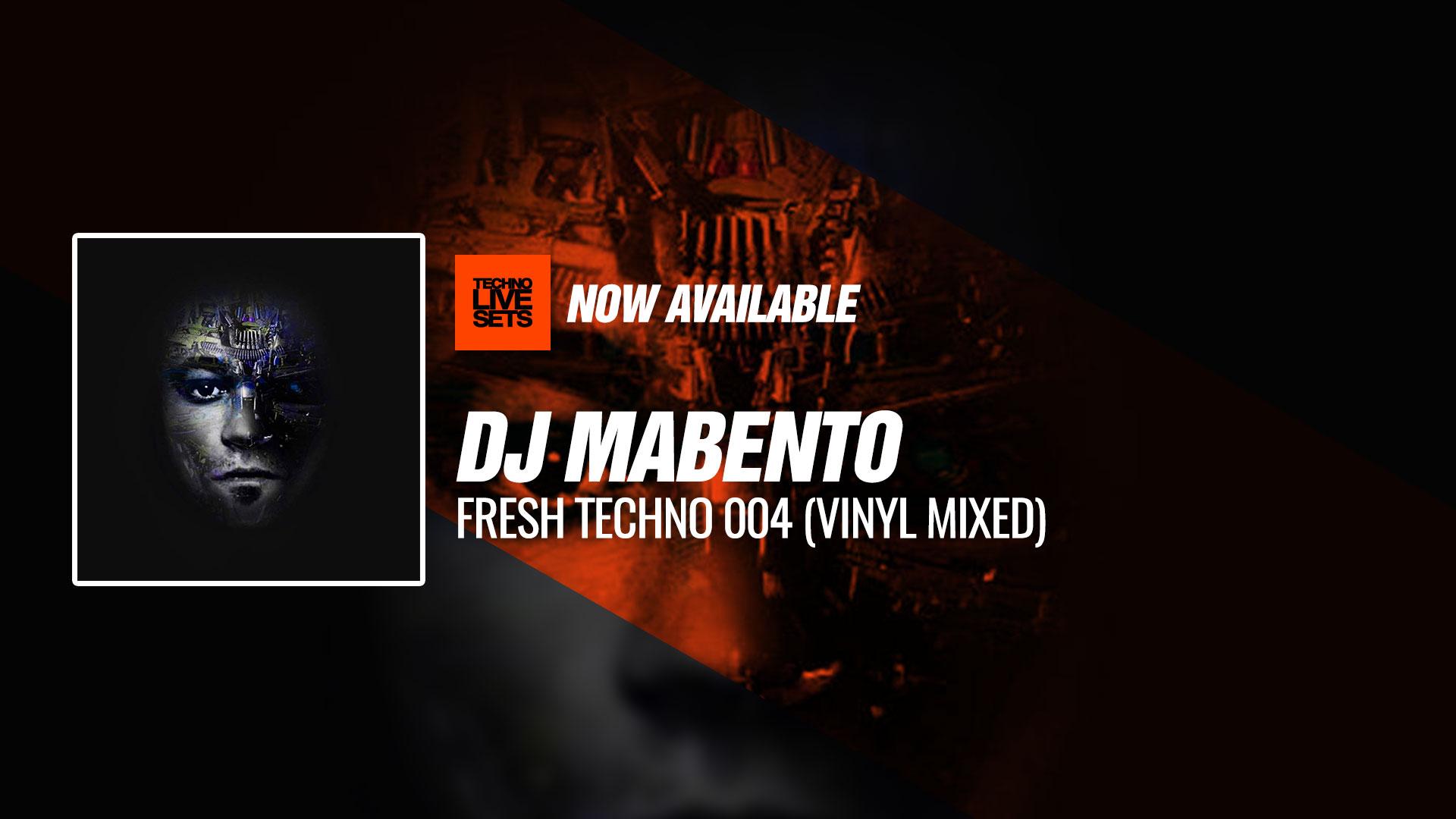Dj Mabento 2018 Fresh Techno 004 Vinyl Mixed 08 12 2018